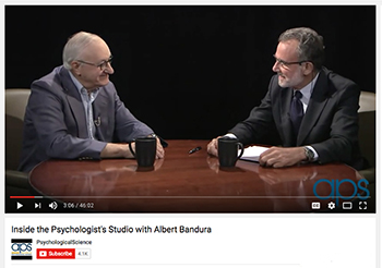 Albert Bandura |interview| APS | Association for Psychological Science | Inside the Psychologist's Studio