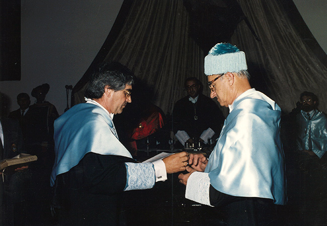 Albert Bandura Honorary Degree Freie Universitat Berlin, 1990